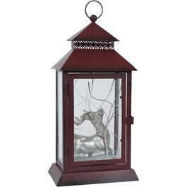 Battery Operated Metal Lantern, with Dot Lights, Assorted Designs thumb