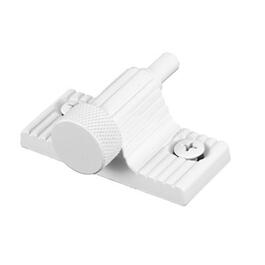 Twist-In White Sliding Patio Door Lock thumb
