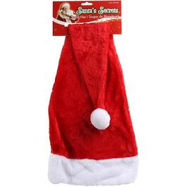 Extra Long Red Plush Santa Hat thumb