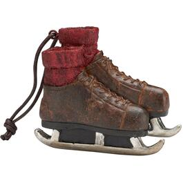 "5"" Brown Vintage Skates Ornament thumb"