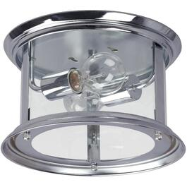 Bel-Air 2 Light Chrome Flushmount Fixture with Clear Glass thumb