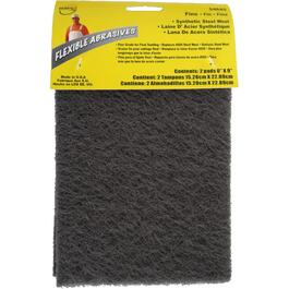 "2 Pack 6"" x 9"" Fine Synthetic Steel Wool Sanding Pads thumb"