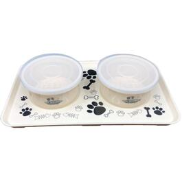5 Piece Small Non-Slip Lock Dog Dish/Tray thumb