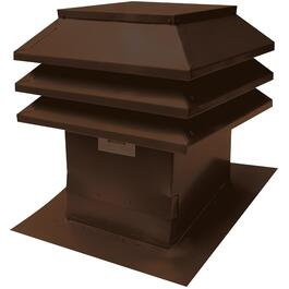 "12"" x 12"" Maximum Brown Slanted Roof Vent thumb"