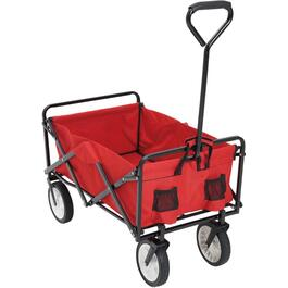 "Red/Black Foldable Wagon, with 8"" Wheels thumb"
