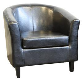 Black Leather Like Reception Chair thumb