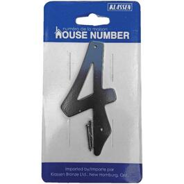 "3.5"" Aluminum Nail-On '4' House Number thumb"