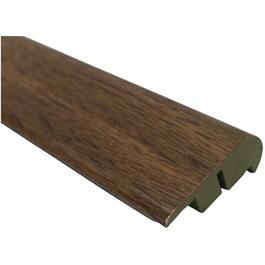 "2-1/8"" x 94"" Burnished Oak Stair Nose Laminate Moulding thumb"