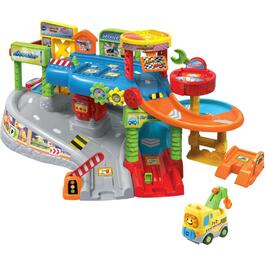 French Version Go Go Smart Wheels Tow & Go Garage Playset thumb