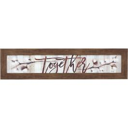 "10"" x 40"" Together Wall Plaque thumb"