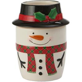 Snowman Dip Chiller Dish, with Ice Compartment thumb