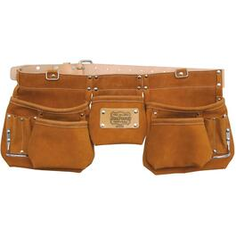 12 Pocket Split Leather Carpenters Waist Apron thumb