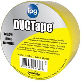 "1.88"" x 20YD Yellow Cloth Duct Tape thumb"