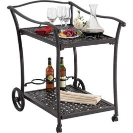 Bahamas Cast Aluminum Serving Trolley thumb