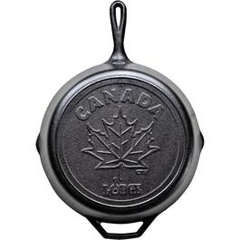 "12"" Canadiana Maple Leaf Cast Iron Frying Pan thumb"