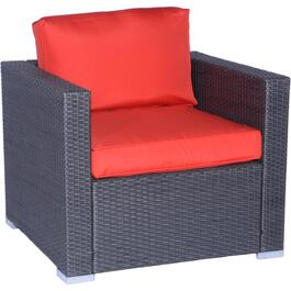 Tripoli Wicker Club Chair, with Cushion thumb