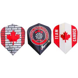 9 Piece Team Canuck Dart Flights Set thumb