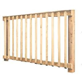 "36""H x 6'W Cedar Baluster Railing Package, with Cap thumb"
