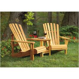 "38"" x 36"" x 71"" Cedar Double Muskoka Chair Package thumb"