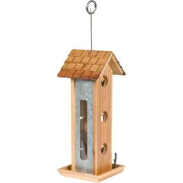 2lb Capacity 6 Perch Wooden Bird Feeder thumb