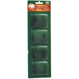 300 Pack Green Small/Large Ornament Hangers thumb