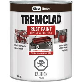 946mL Gloss Brown Alkyd Rust Paint thumb