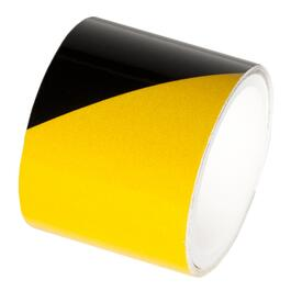 "1.5"" x 40"" Yellow and Black Reflective Tape thumb"