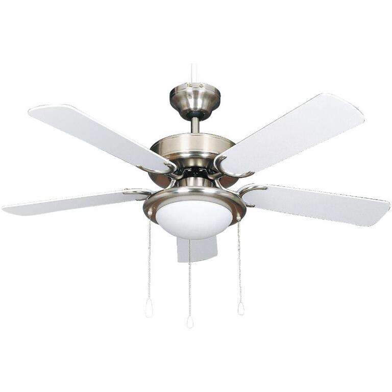 Eclipse 42 5 blade white pewter ceiling fan with light home hardware product image aloadofball Images