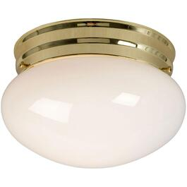 "7.5"" Brass Mushroom Flush Light Fixture thumb"