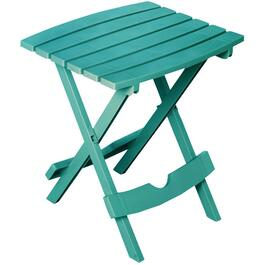 "15"" x 17"" Teal Slat Resin Folding Side Table thumb"