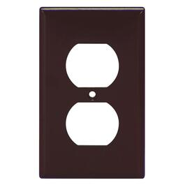 Plastic Brown Duplex Receptacle Plate thumb