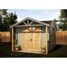 10' x 10' Gable Shed Package, with Porch and D5 Vinyl Siding thumb