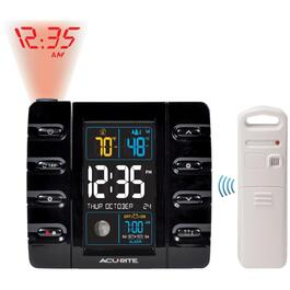 Black Projection and Outdoor Temperature Alarm Clock thumb