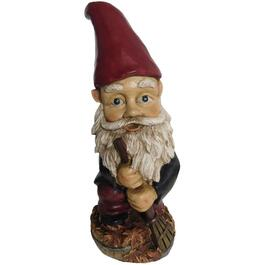 Gnome with Rake Lawn Ornament thumb