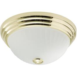 "10"" Brass Flush Mount Light Fixture thumb"