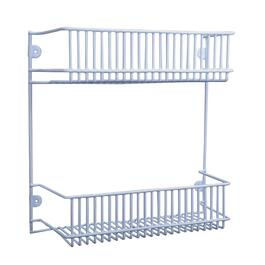 "12"" 2 Tier White Wire Rack Organizer thumb"