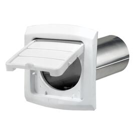 "4"" Louvered Easy Access White Vent Hood, with Tailpiece thumb"