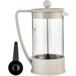 1L White Brazil Coffee Press thumb