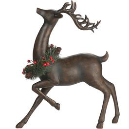 "11"" Brown Polyresin Standing Deer Figure thumb"