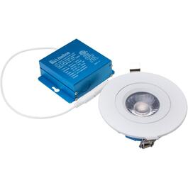 "4"" Round 12W Gimbal Recessed White LED Pot Light with CCT switch for Suspended Ceilings thumb"