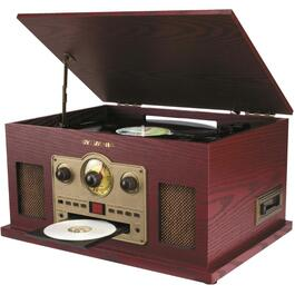 5-In-1 Turntable, with CD/Cassette/Radio thumb