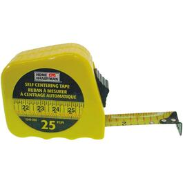 "1"" x 25' Self Centering Yellow Tape Measure thumb"