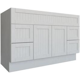 "48"" x 21"" 2 Door 2 Drawer White Stratford Vanity thumb"