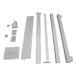 4' White Aluminum Straight Gate Picket Railing Package thumb