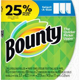2 Rolls 69 Sheet 2 Ply Regular Select-A-Size Paper Towels thumb