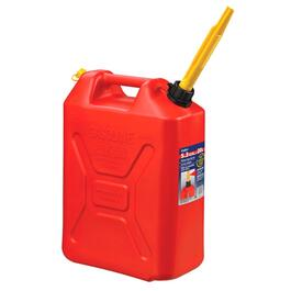 20L Red Plastic Jerry Gas Can thumb