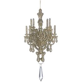 "6"" Acrylic Glitter Chandelier Ornament thumb"