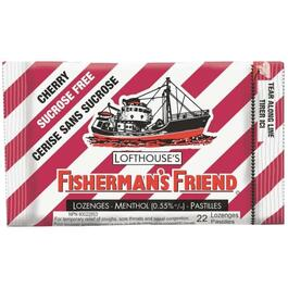 22 Piece Sugar Free Cherry Fishermans Friend Cough Drops thumb