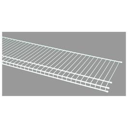 "12"" x 4' White Superslide Wire Shelf thumb"