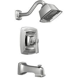 Boardwalk Chrome Single Lever Pressure Balance Tub and Shower Faucet thumb